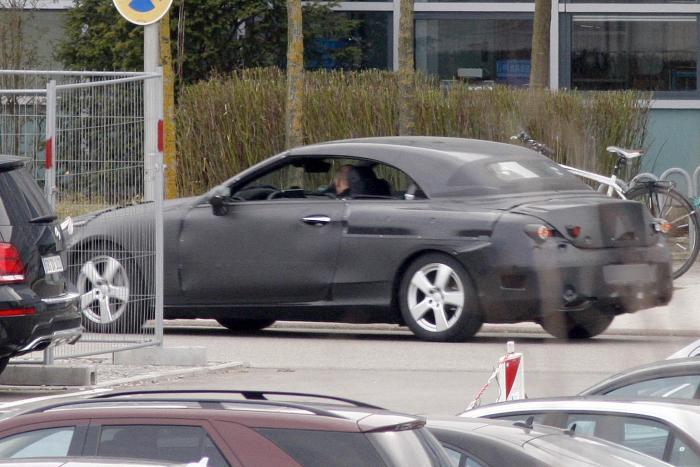 Кабриолет Mercedes C-класса в объективе шпионов