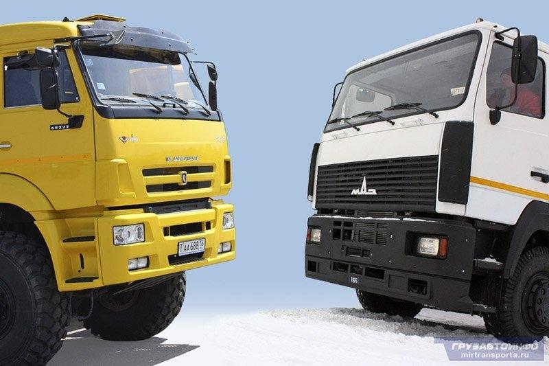 Рынок грузовых машин упал в 2 раза